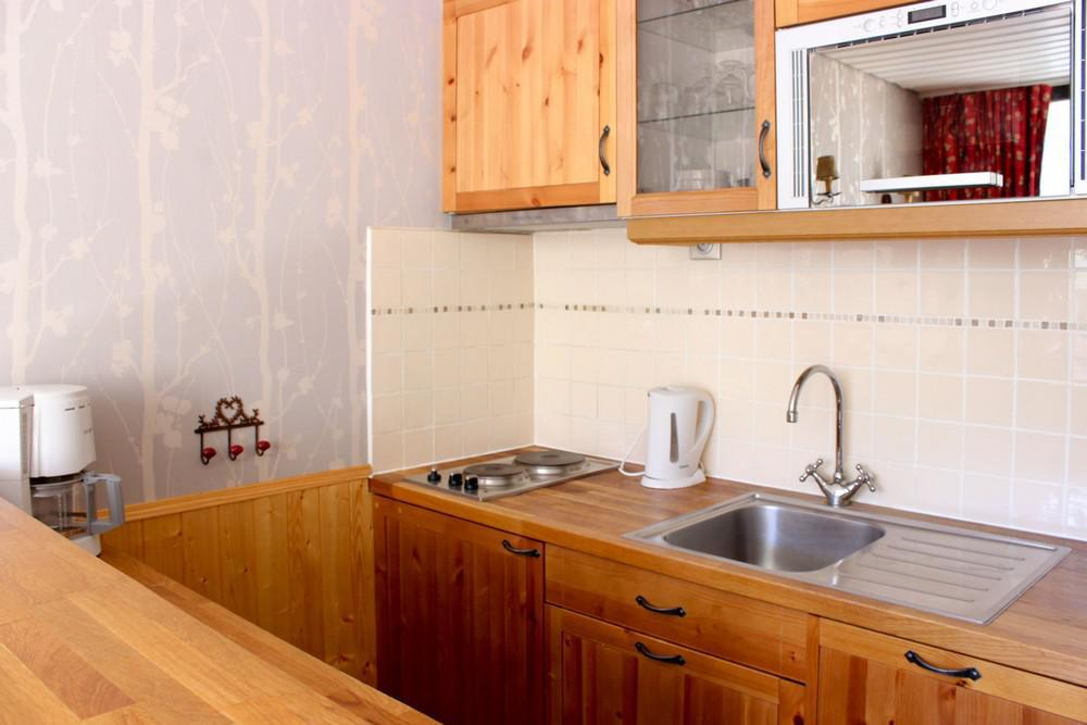 Location au ski Studio 3 personnes (P2) - Residence Le Serac - Val Thorens - Kitchenette