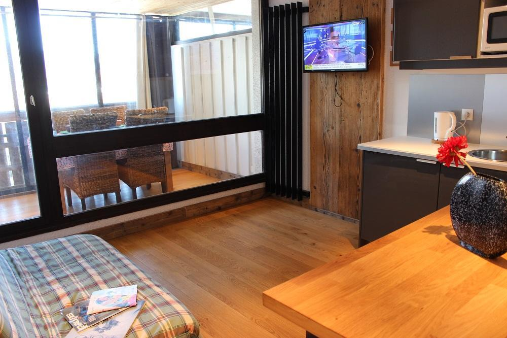 Location au ski Studio 4 personnes (H8) - Residence Le Serac - Val Thorens - Séjour