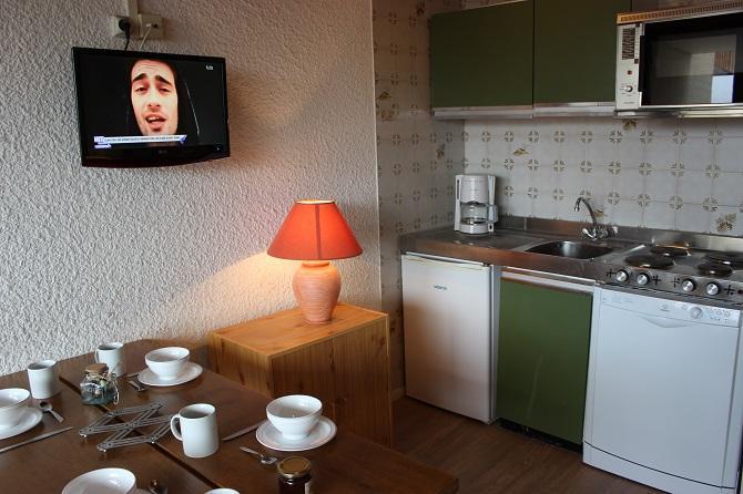 Location au ski Studio cabine 4 personnes (M7) - Residence Le Serac - Val Thorens - Kitchenette