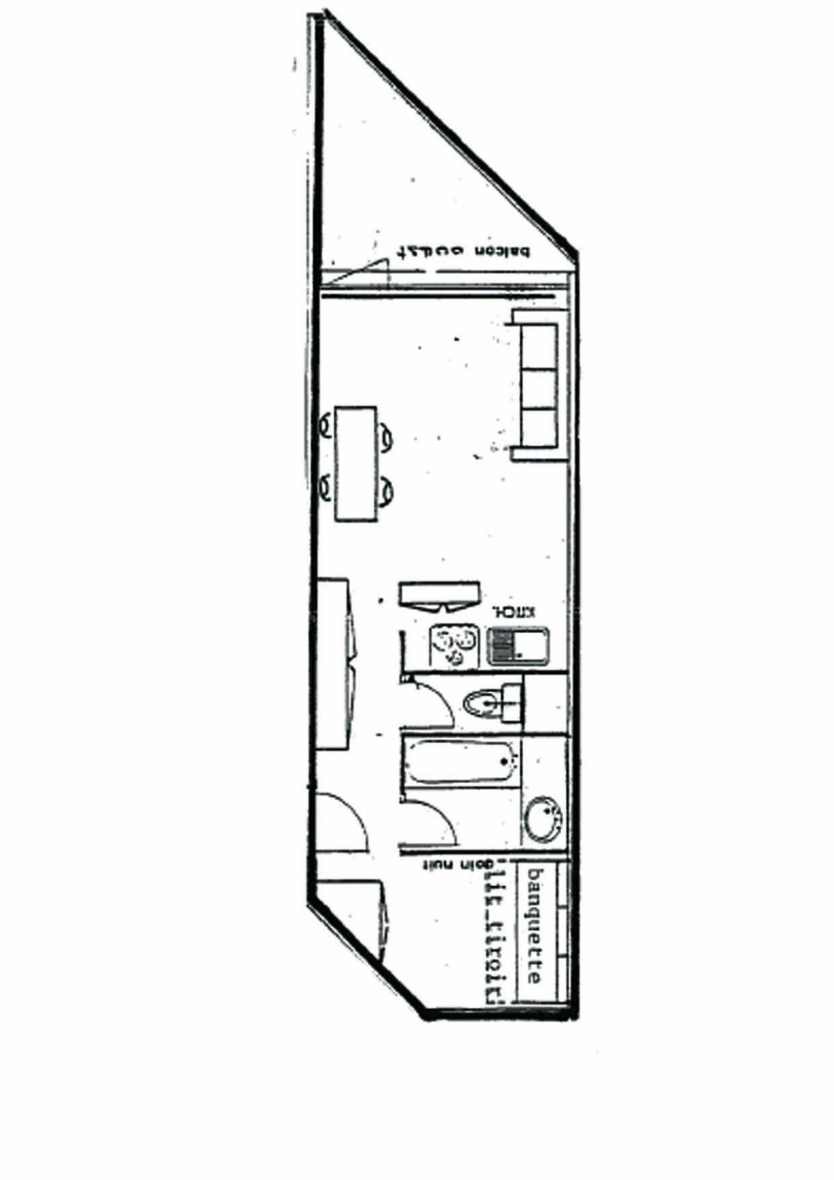 Location au ski Studio 4 personnes (713) - Residence Les 3 Vallees - Val Thorens - Plan