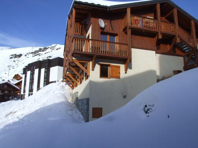 Location au ski Studio 2 personnes (317) - Residence Les Hauts De Vanoise - Val Thorens - Extérieur hiver