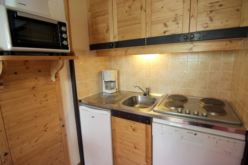 Location au ski Studio 2 personnes (317) - Residence Les Hauts De Vanoise - Val Thorens - Coin repas