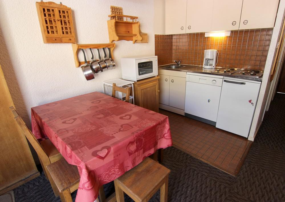 Location au ski Studio 3 personnes (623) - Residence Les Trois Vallees - Val Thorens - Kitchenette