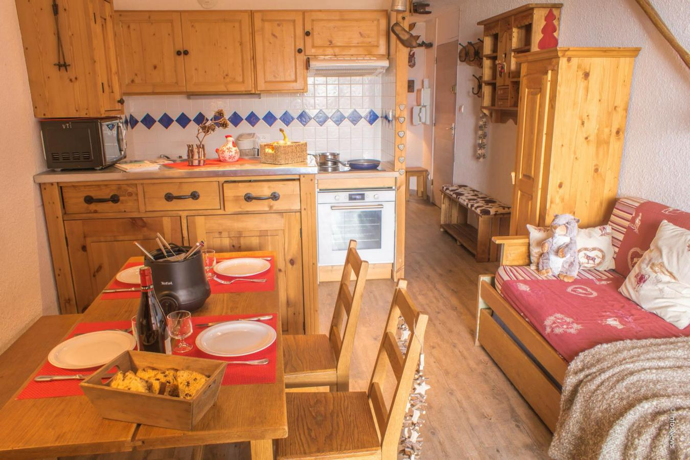Location au ski Studio cabine 4 personnes (513) - Residence Les Trois Vallees - Val Thorens - Kitchenette
