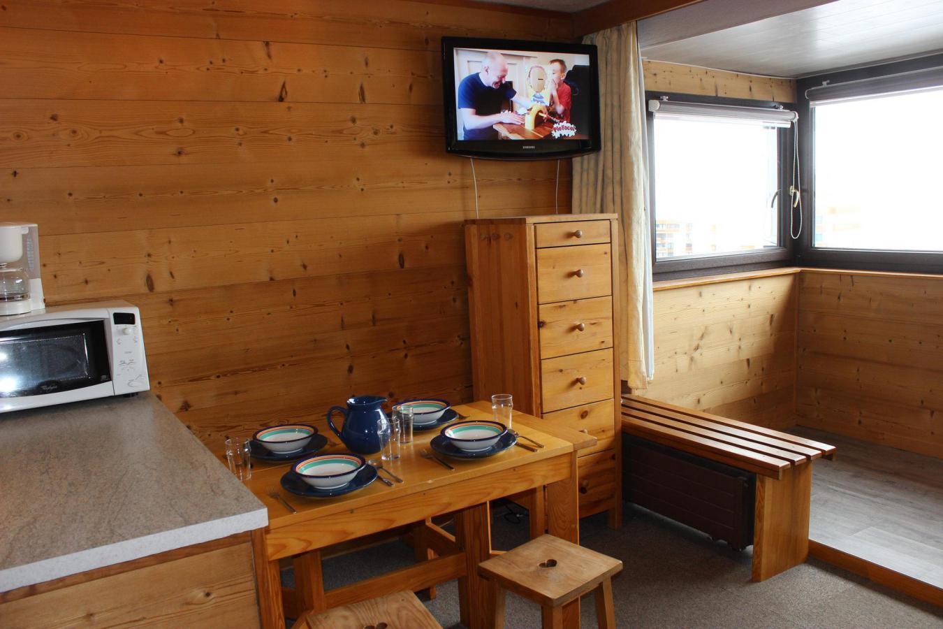 Location au ski Studio 4 personnes (154) - Residence Neves - Val Thorens - Séjour