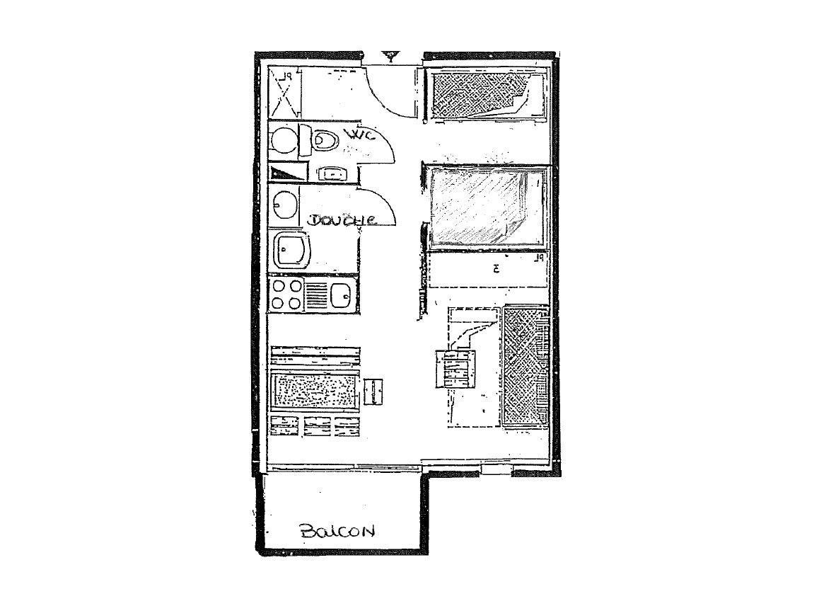Location au ski Studio 4 personnes (42) - Residence Orsiere - Val Thorens