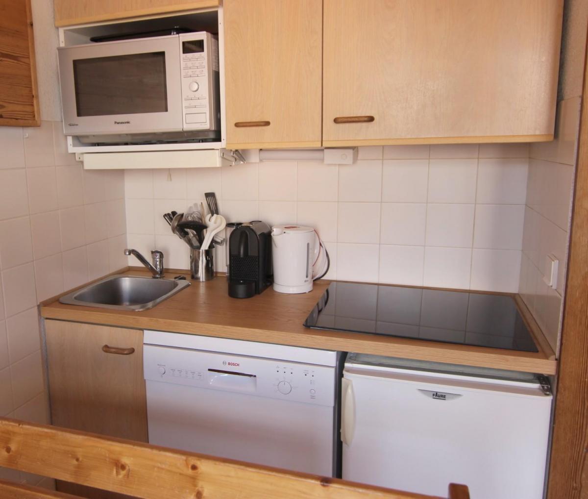 Location au ski Appartement 2 pièces mezzanine 6 personnes (100) - Residence Reine Blanche - Val Thorens - Kitchenette