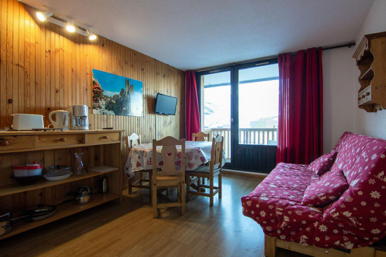 Location au ski Appartement 3 pièces 6 personnes (72) - Residence Roche Blanche - Val Thorens - Canapé