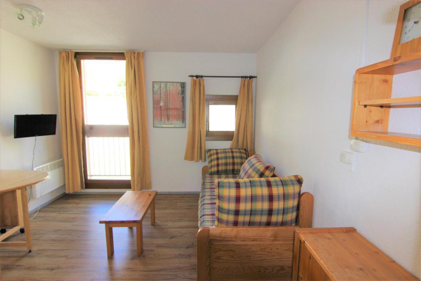 Location au ski Studio 2 personnes (126) - Residence Roche Blanche - Val Thorens - Canapé-gigogne