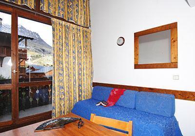 Location au ski Residence Silveralp - Val Thorens - Canapé