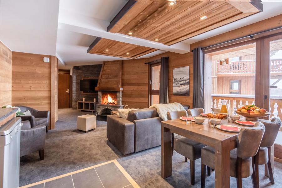 Skiverleih 3-Zimmer-Appartment für 4 Personen - Chalet Altitude - Val Thorens - Esszimmer