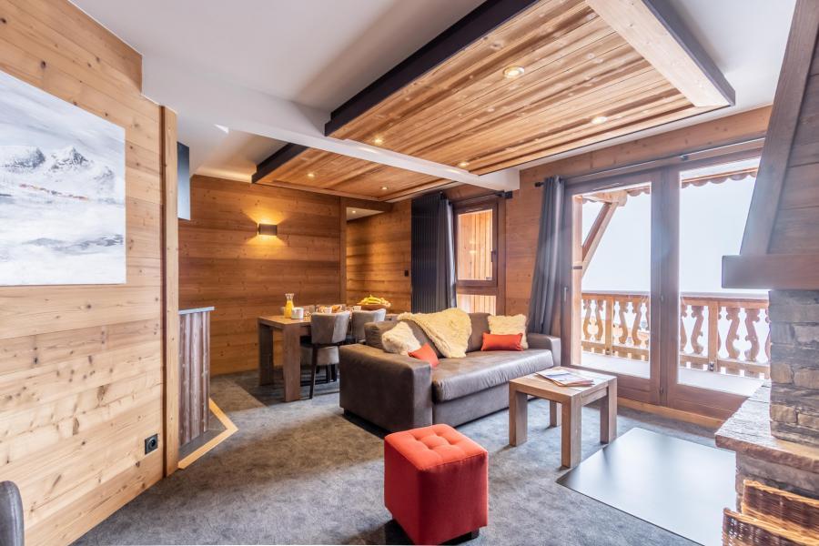 Skiverleih 3-Zimmer-Appartment für 4 Personen - Chalet Altitude - Val Thorens - Sofa