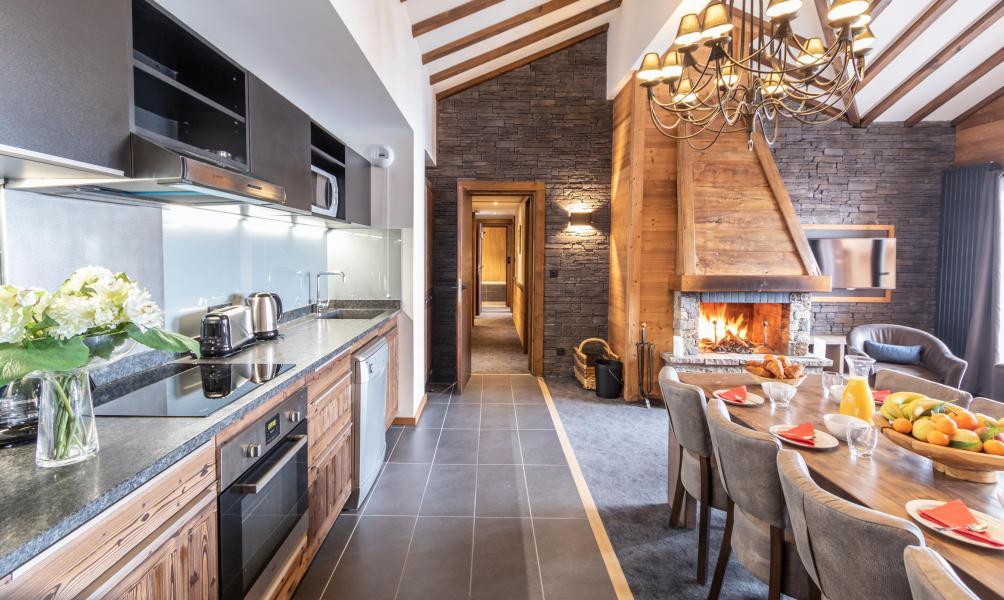 Location au ski Appartement 5 pièces 8 personnes - Chalet Altitude - Val Thorens - Salle à manger