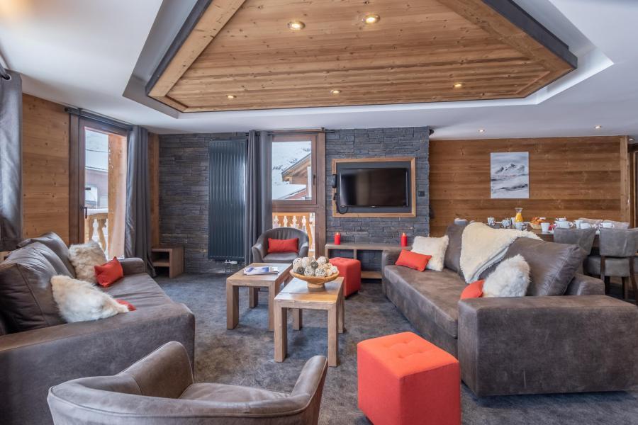 Location au ski Appartement duplex 6 pièces 10 personnes - Chalet Altitude - Val Thorens - Canapé