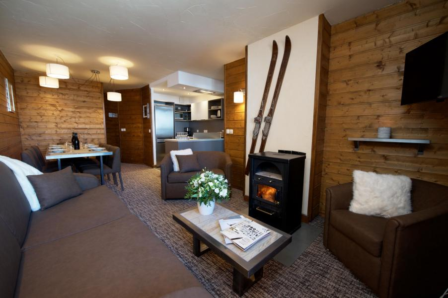 Skiverleih 5-Zimmer-Appartment für 8 Personen - Chalet Val 2400 - Val Thorens - Wohnzimmer