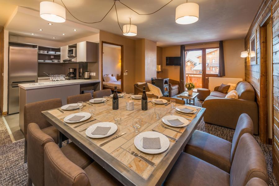 Skiverleih 6-Zimmer-Appartment für 10 Personen - Chalet Val 2400 - Val Thorens - Wohnzimmer