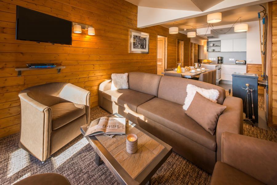 Skiverleih Komfort Wohnung 4 Zimmer 6-8 Personnen - Chalet Val 2400 - Val Thorens - Wohnzimmer