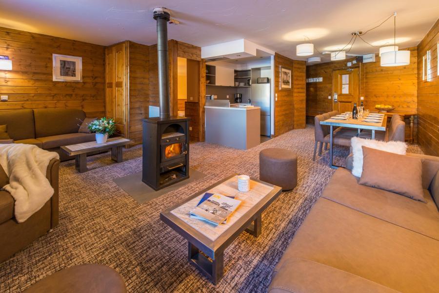 Skiverleih Komfort Wohnung 5 Zimmer 8-10 Personnen - Chalet Val 2400 - Val Thorens - Wohnzimmer