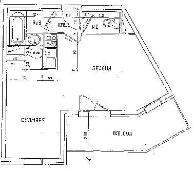 Wynajem na narty Apartament 2 pokojowy 2 osób (018) - La Résidence la Reine Blanche - Val Thorens - Plan
