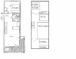 Wynajem na narty Apartament duplex 4 pokojowy 8 osób (177) - La Résidence la Roche Blanche - Val Thorens