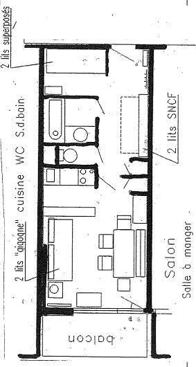 Location au ski Studio cabine 4 personnes (002) - La Résidence le Schuss - Val Thorens - Plan