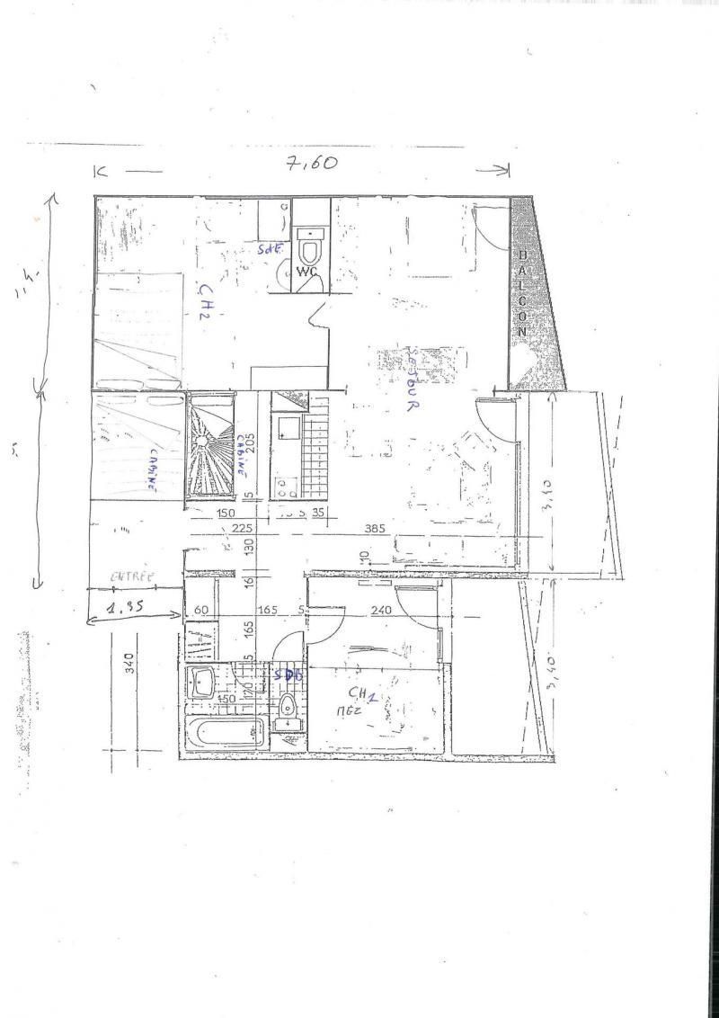 Аренда на лыжном курорте Апартаменты 4 комнат 8 чел. (030) - La Résidence les Eterlous - Val Thorens - план