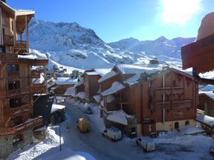 Vacances en montagne Les Chalets des Balcons - Val Thorens - Extérieur hiver