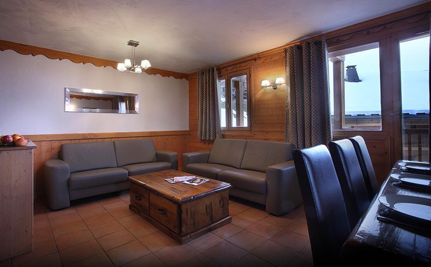 Skiverleih Résidence Chalet des Neiges Plein Sud - Val Thorens - Kleines Wohnzimmer