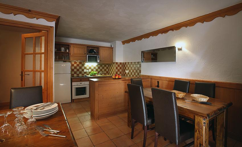 Skiverleih Résidence Chalet des Neiges Plein Sud - Val Thorens - Küche