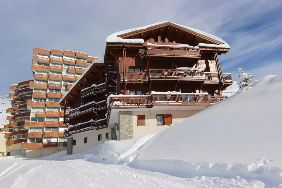 Location au ski Appartement 3 pièces 6 personnes (12) - Résidence Chalet le Cristallo - Val Thorens - Extérieur hiver