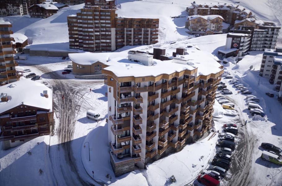 Vacances en montagne Résidence Hauts de Chavière - Val Thorens - Extérieur hiver