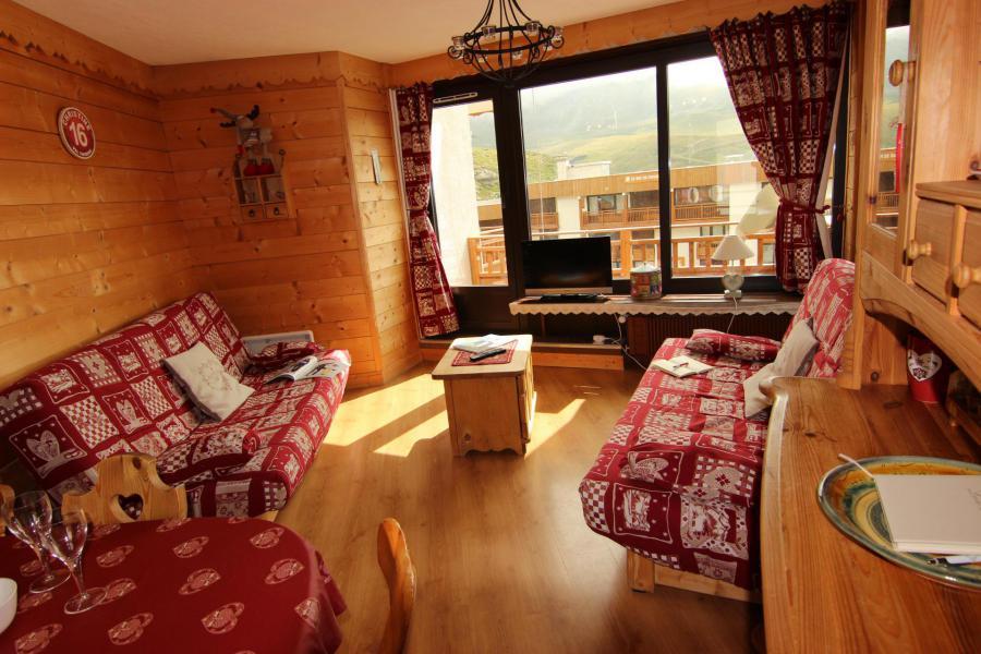 Location au ski Appartement 3 pièces 6 personnes (12) - Résidence Hauts de Chavière - Val Thorens - Banquette-lit tiroir