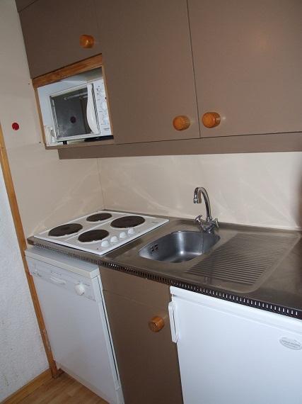 Location au ski Studio cabine 4 personnes (10) - Résidence l'Orsière - Val Thorens - Kitchenette