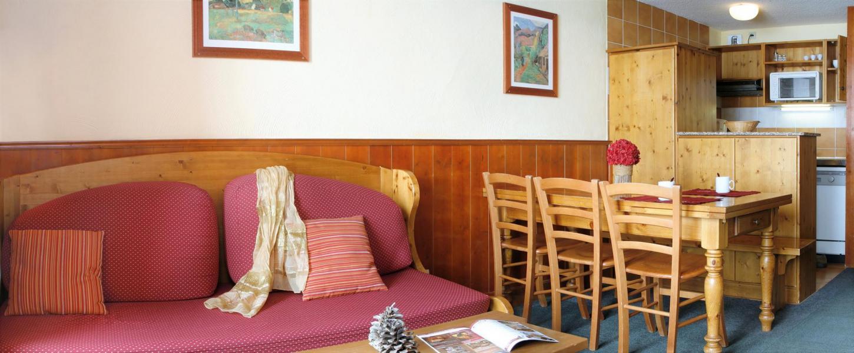 Аренда на лыжном курорте Résidence le Cheval Blanc - Val Thorens - Диван-кровать