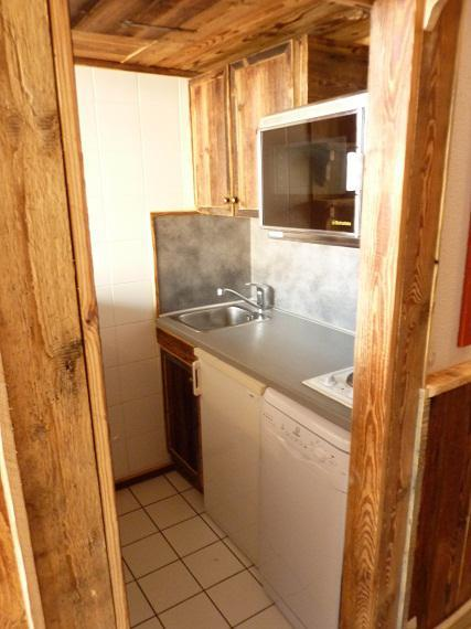 Location au ski Studio 3 personnes (607) - Résidence le Dôme de Polset - Val Thorens - Cuisine