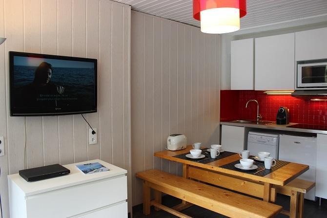 Location au ski Studio 5 personnes (102) - Résidence le Schuss - Val Thorens - Kitchenette