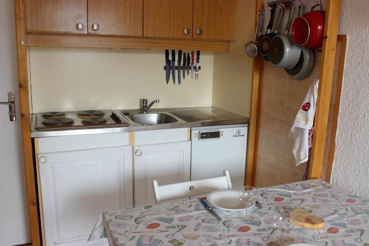 Location au ski Studio 2 personnes (402) - Résidence les Hauts de Vanoise - Val Thorens - Kitchenette