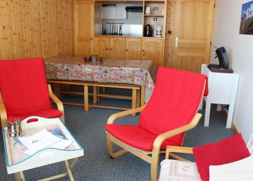 Skiverleih 3-Zimmer-Holzhütte für 6 Personen (703) - Résidence les Trois Vallées - Val Thorens - Wohnzimmer