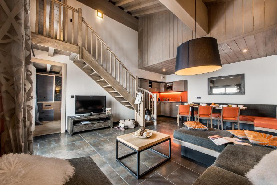 Wynajem na narty Apartament 4 pokojowy z antresolą 8 osób - Résidence Montana Plein Sud - Val Thorens - Pokój gościnny