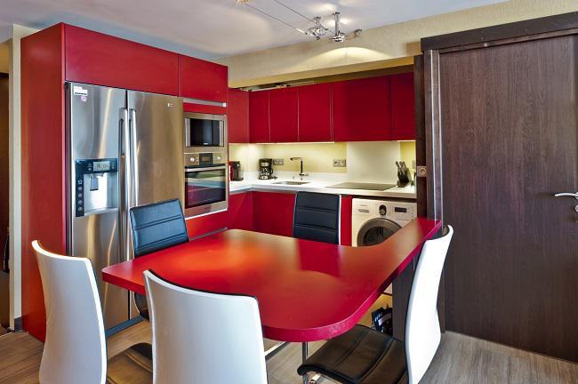 Location au ski Appartement 3 pièces cabine 6 personnes (198) - Résidence Névés - Val Thorens - Salle à manger