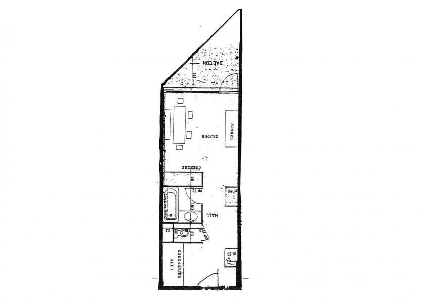 Wynajem na narty Studio 4 osoby (204) - Résidence Portillo - Val Thorens - Plan
