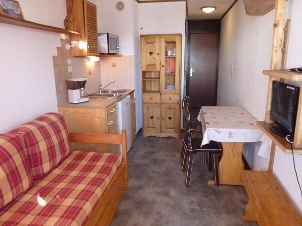 Location au ski Studio 2 personnes (158) - Résidence Vanoise - Val Thorens - Banquette-lit