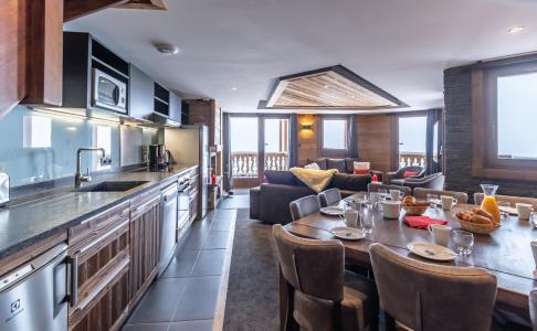 Location au ski Appartement duplex 6 pièces 10 personnes - Chalet Altitude - Val Thorens - Cuisine