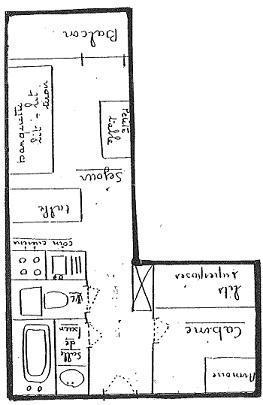 Location au ski Studio cabine 3 personnes (414) - La Residence L'arcelle - Val Thorens - Plan