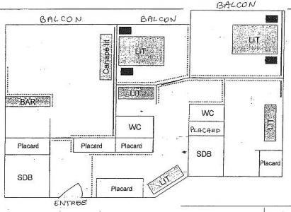 Location au ski Appartement 5 pièces cabine 10 personnes (409) - La Residence Le Lac Du Lou - Val Thorens - Plan