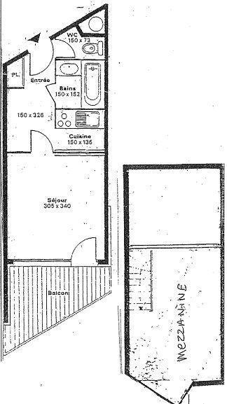 Location au ski Studio duplex 4 personnes (332) - La Residence Le Silveralp - Val Thorens - Plan