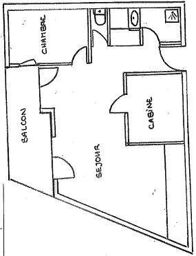 Location au ski Appartement 3 pièces cabine 8 personnes (2305) - La Residence Les Cimes De Caron - Val Thorens - Plan