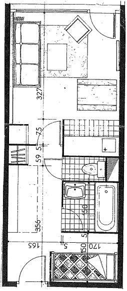 Location au ski Studio 4 personnes (070) - La Residence Les Eterlous - Val Thorens - Plan