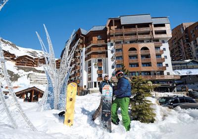 Location au ski Residence Altineige - Val Thorens - Extérieur hiver
