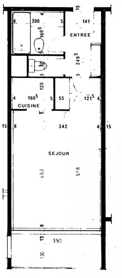 Location au ski Studio 4 personnes (209) - Residence De L'olympic - Val Thorens - Plan